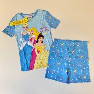 Disney Princess PJ pals shorts set for girls.